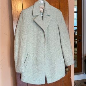 F21 mint pea coat, size small.